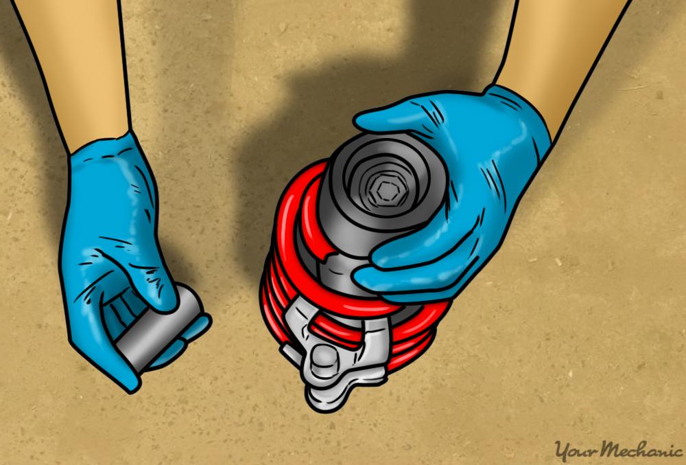 hand tightening retaining nut