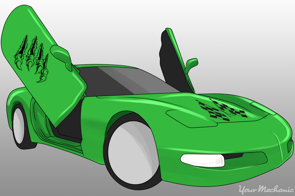 lime green paint job onto car