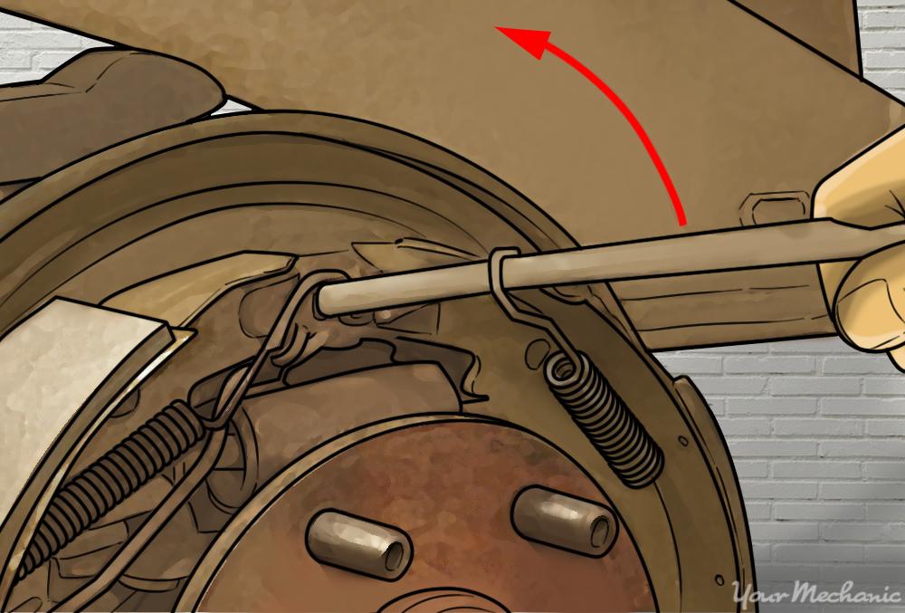 installing the return springs; illustrate arrows