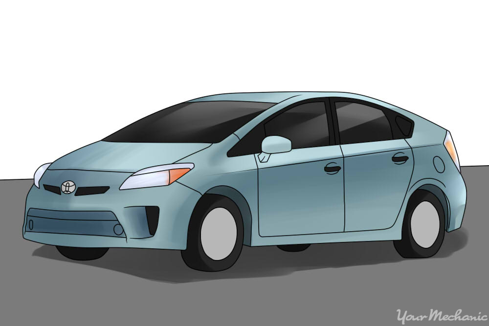 Toyota Prius parked on a road