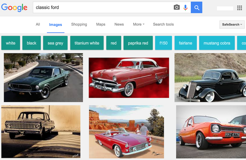 google image search of classic mustangs
