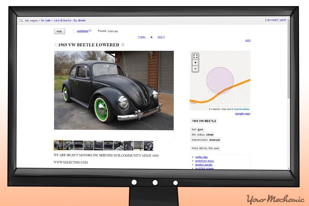 VW beetle craigslist ad