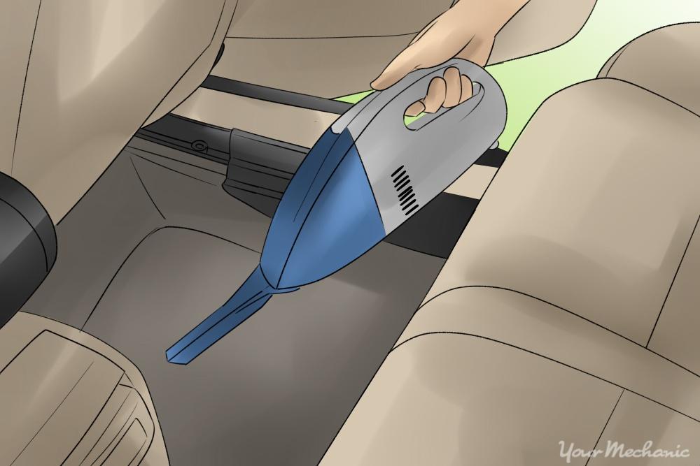 portable vacuum in car