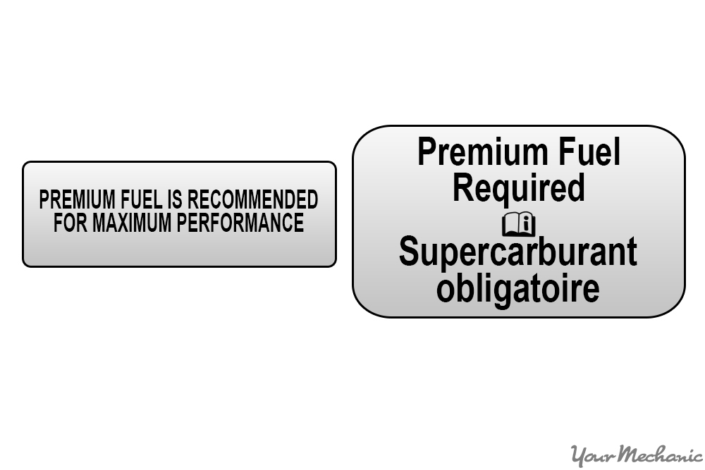 premium fuel recommended/required