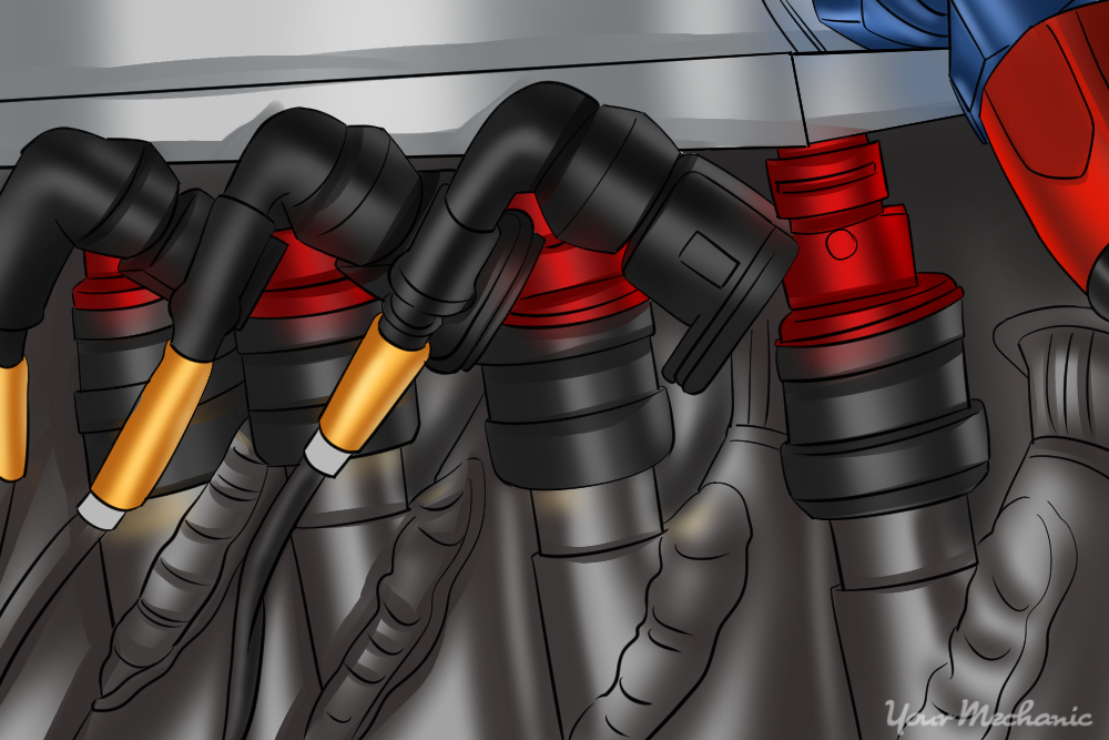 how to ensure fuel injectors are receiving the correct voltage Third Brake Light Wiring Harness location of injectors step 2 remove injector wiring harness