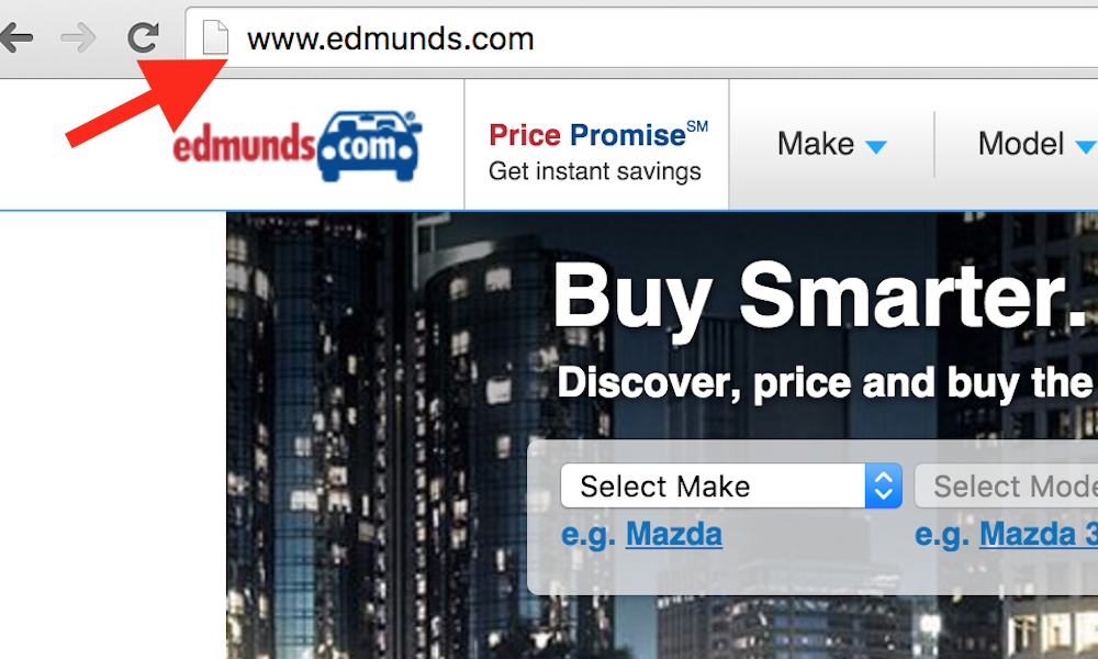 type in edmunds url