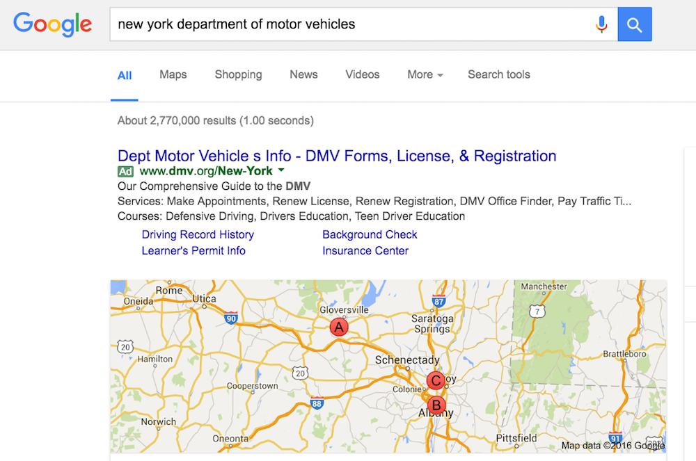 google dmv