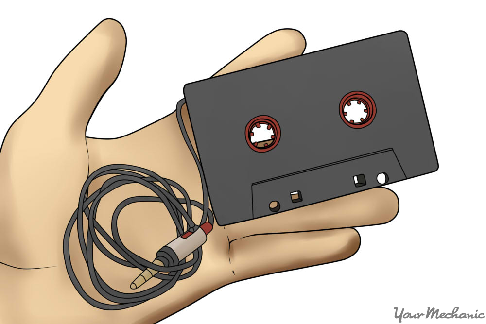 cassette adapter in hand
