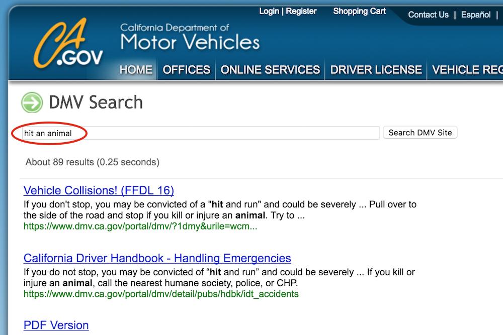 ca gov site search