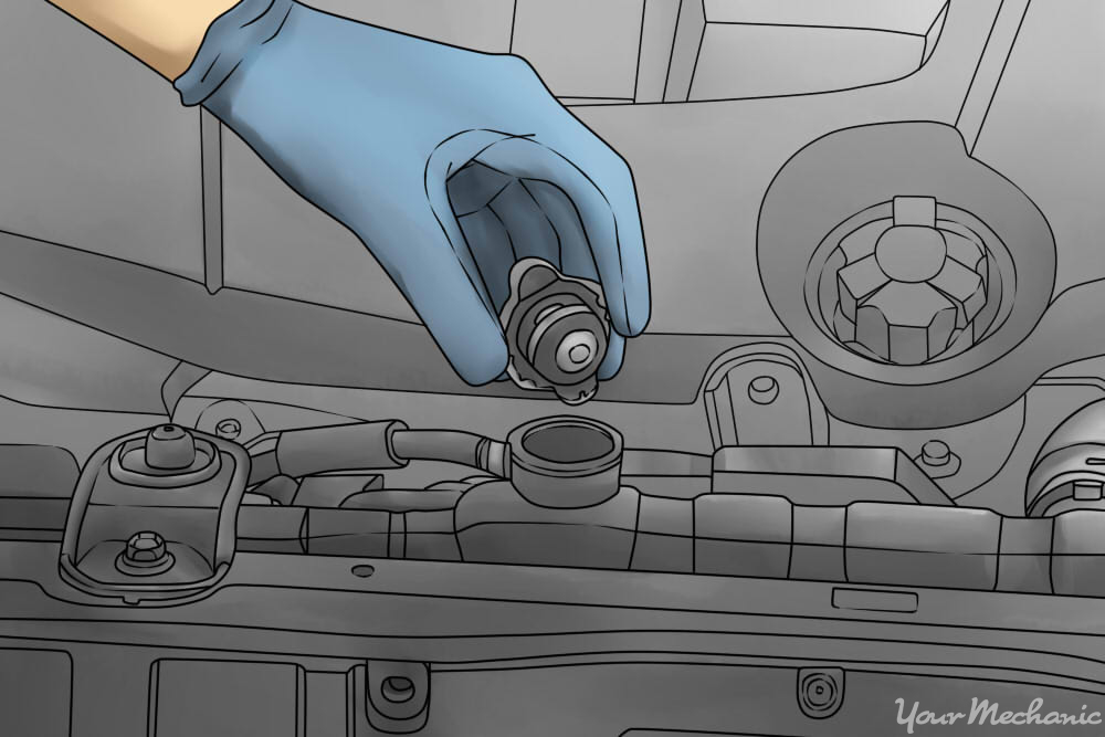 removing radiator cap