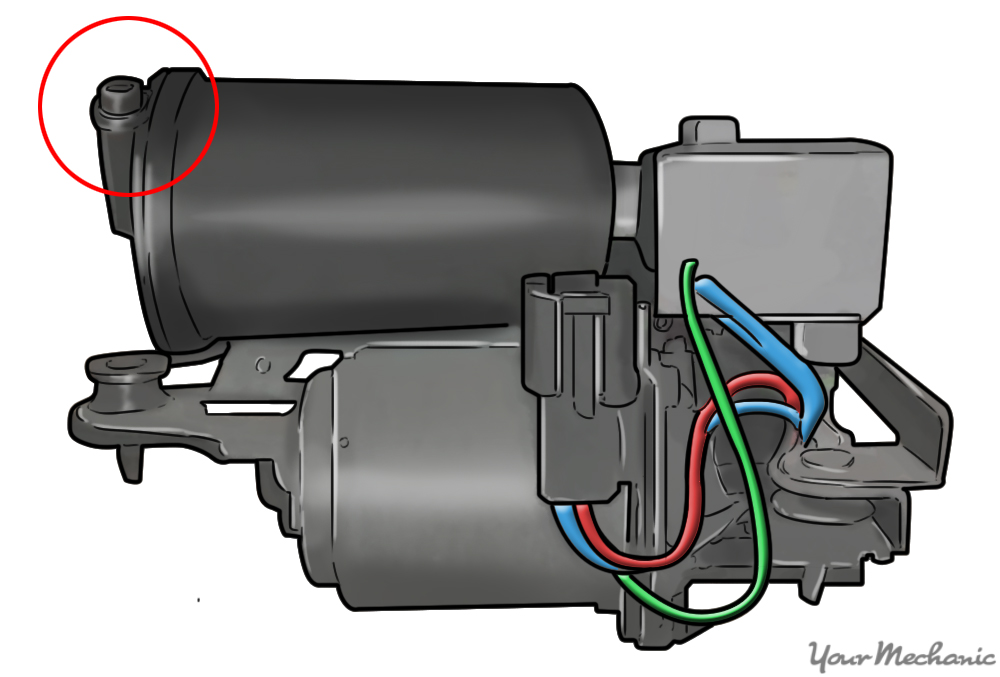 air compressor with lock ring circled in red