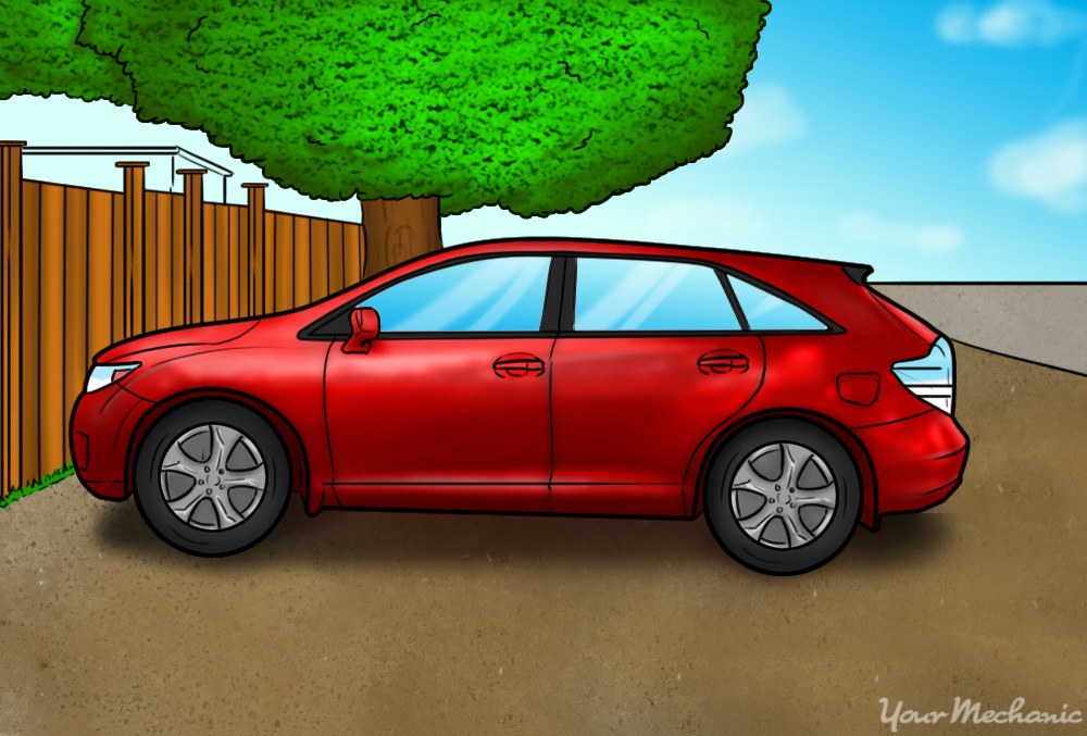 car parked in a secluded area