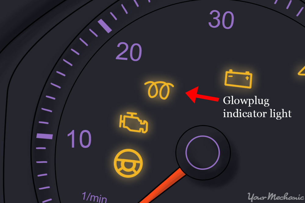 glow plug indicator light on the dash