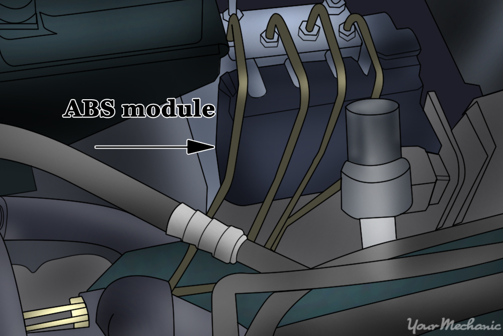how to replace an abs control module
