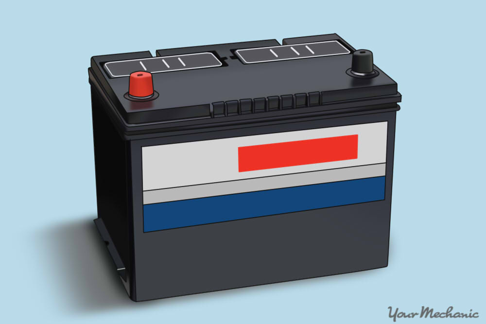 battery sitting by itself