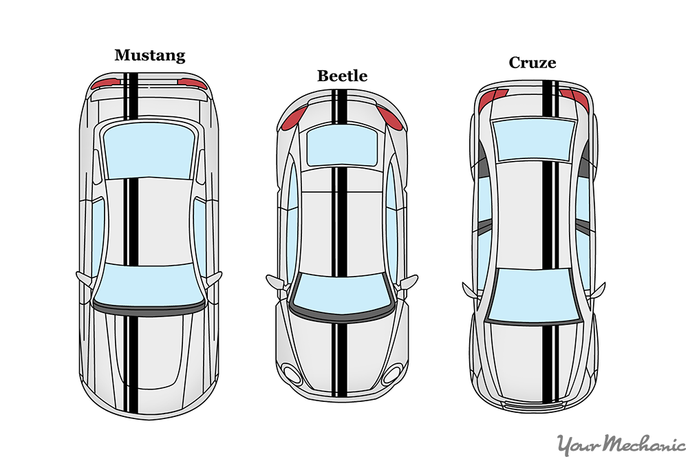 different types of racing stripes on different models