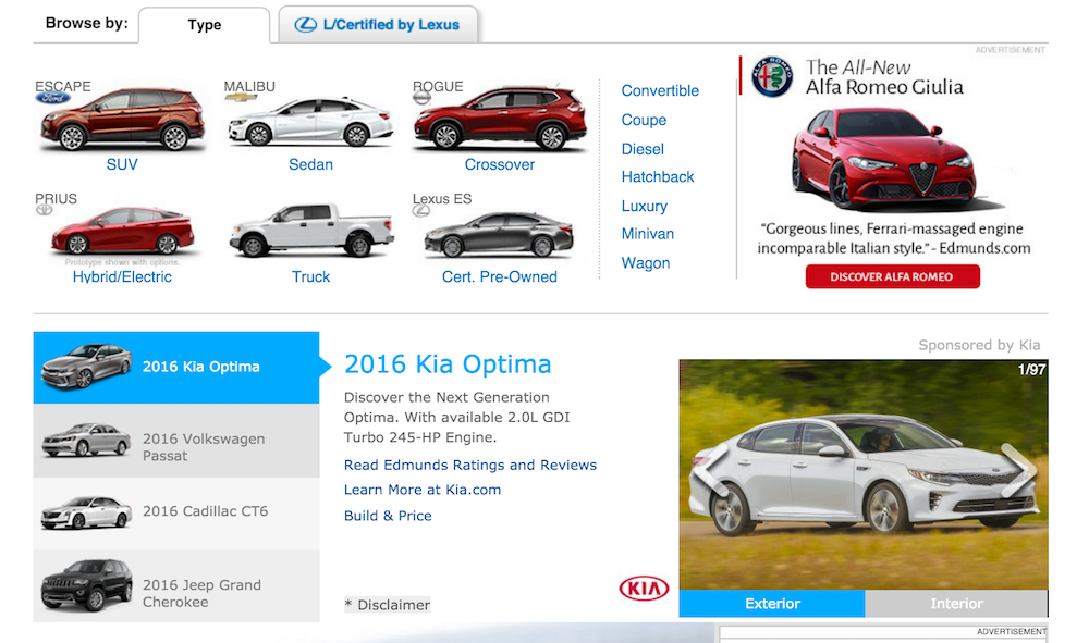 Edmunds site screenshot