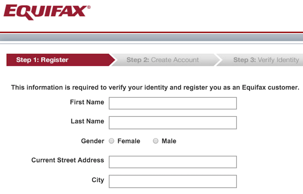 equifax site information for registration