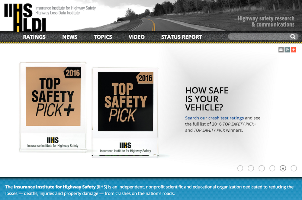 IIHS home page