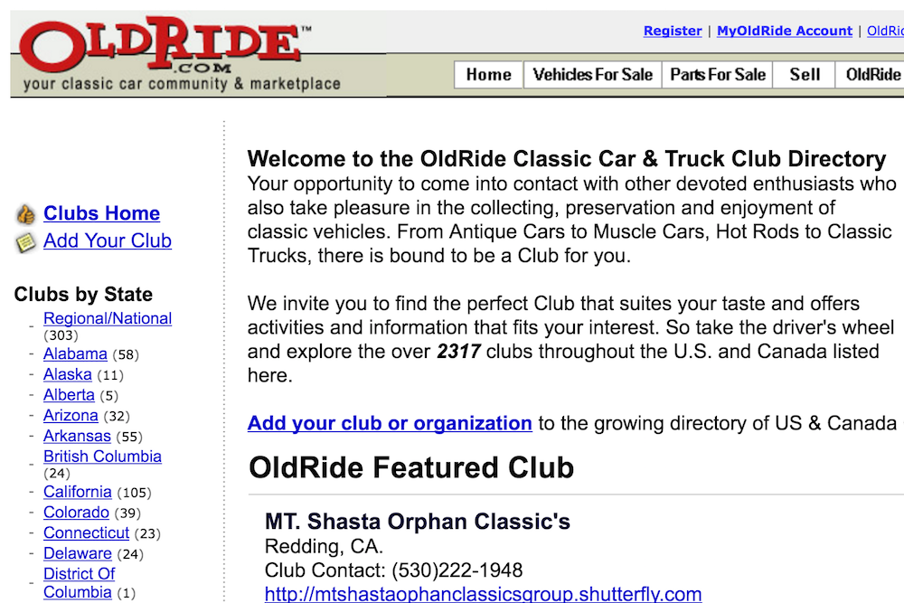 old ride site