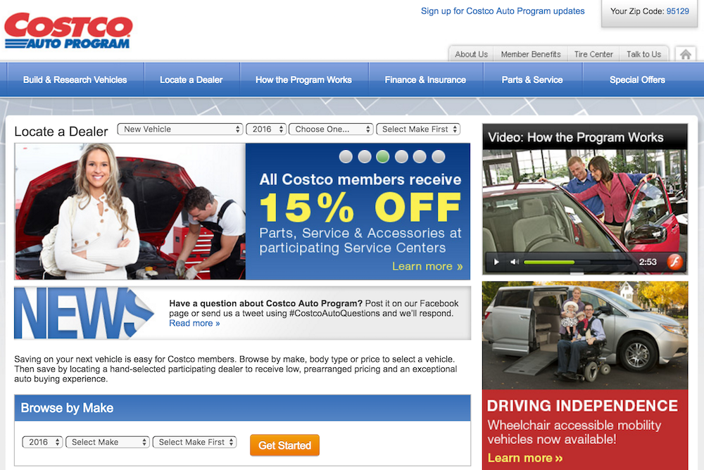 costco homepage