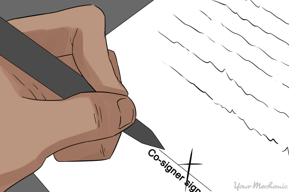 person about to sign a document