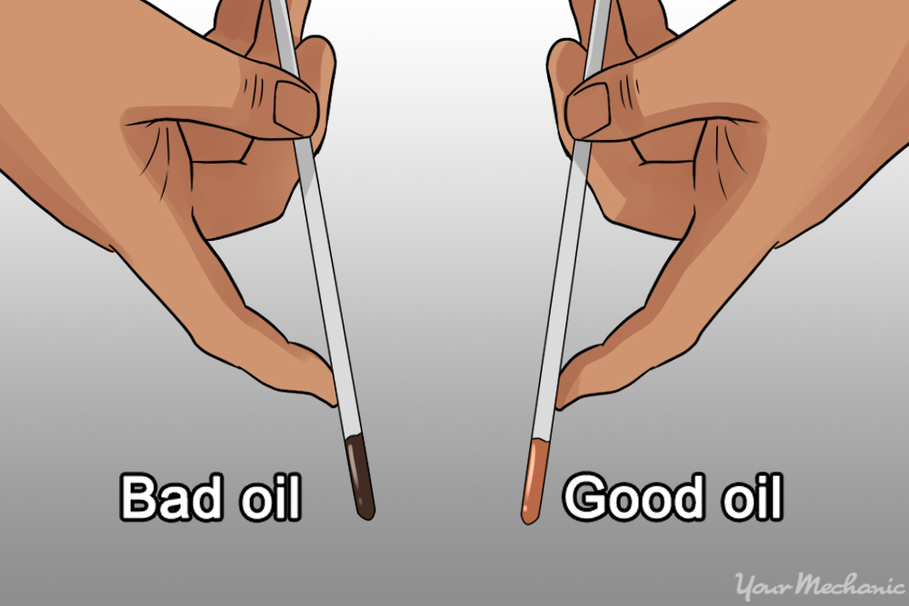 two separate oil dipsticks