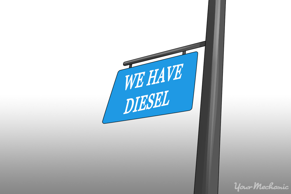"sign reading ""We have diesel"""