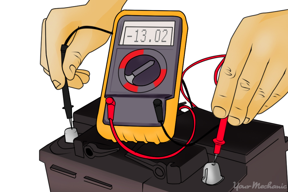 person checking voltmeter