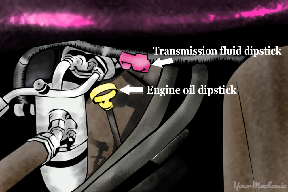 transmission fluid dipstick location