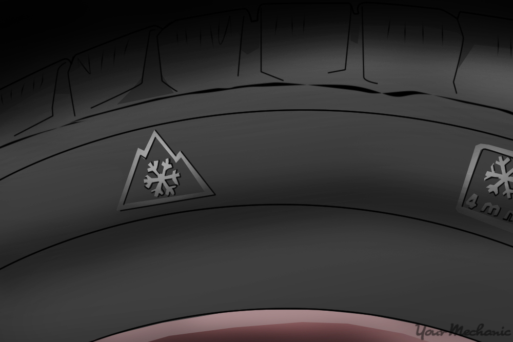 icon on the side of tire