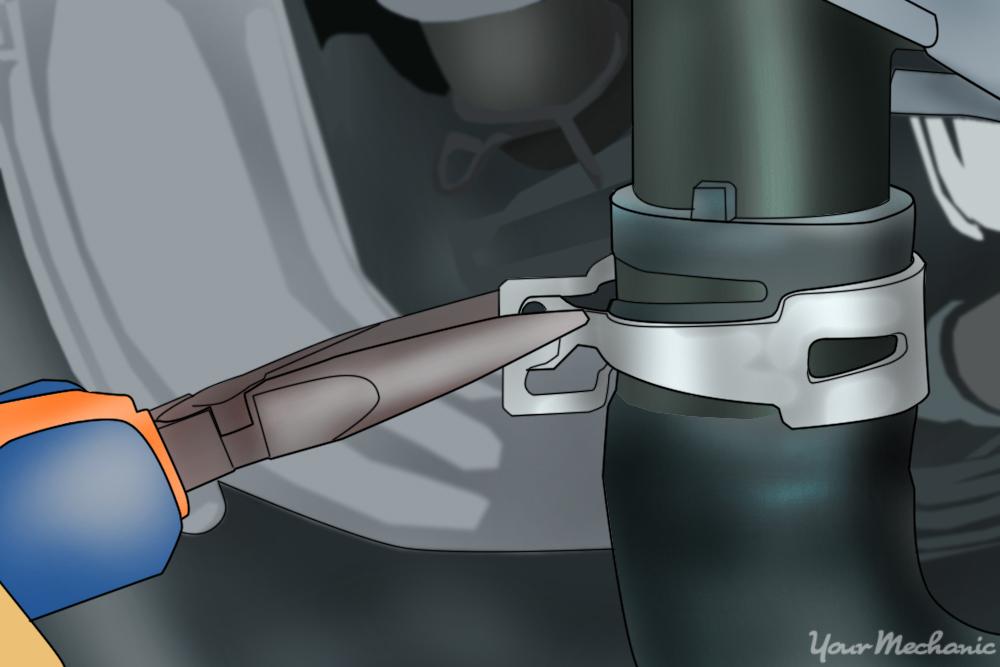 installing the lower radiator hose