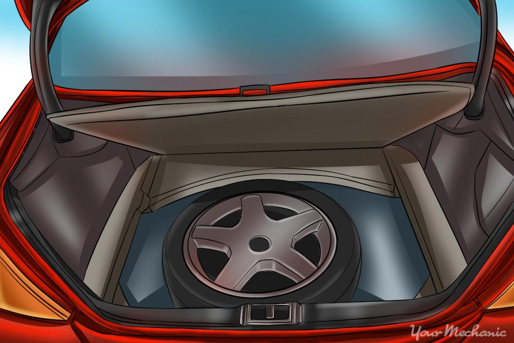 spare tire in trunk