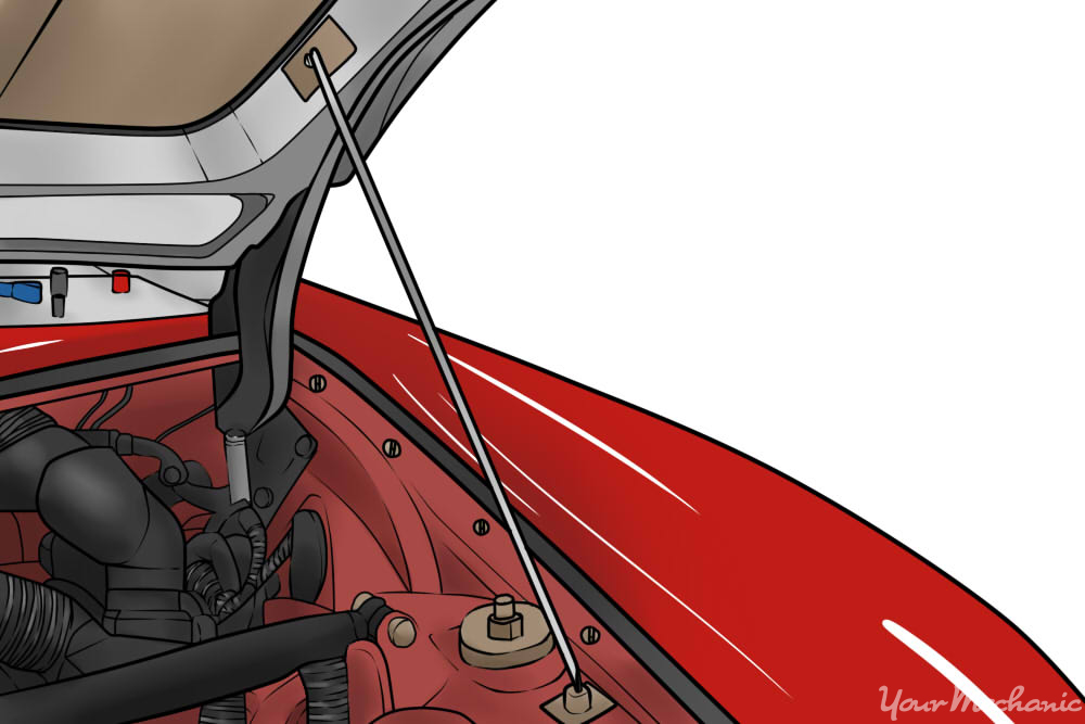 How to fill a windshield wiper fluid reservoir yourmechanic advice once the hood is popped go to the front of the car and reach under the center of the hood with your fingers to find the hood release handle sciox Image collections