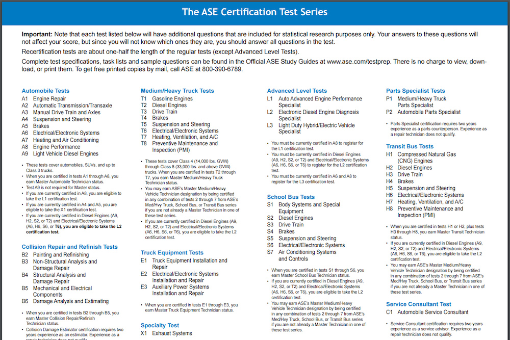 How To Become An Ase Certified Mechanic Yourmechanic Advice