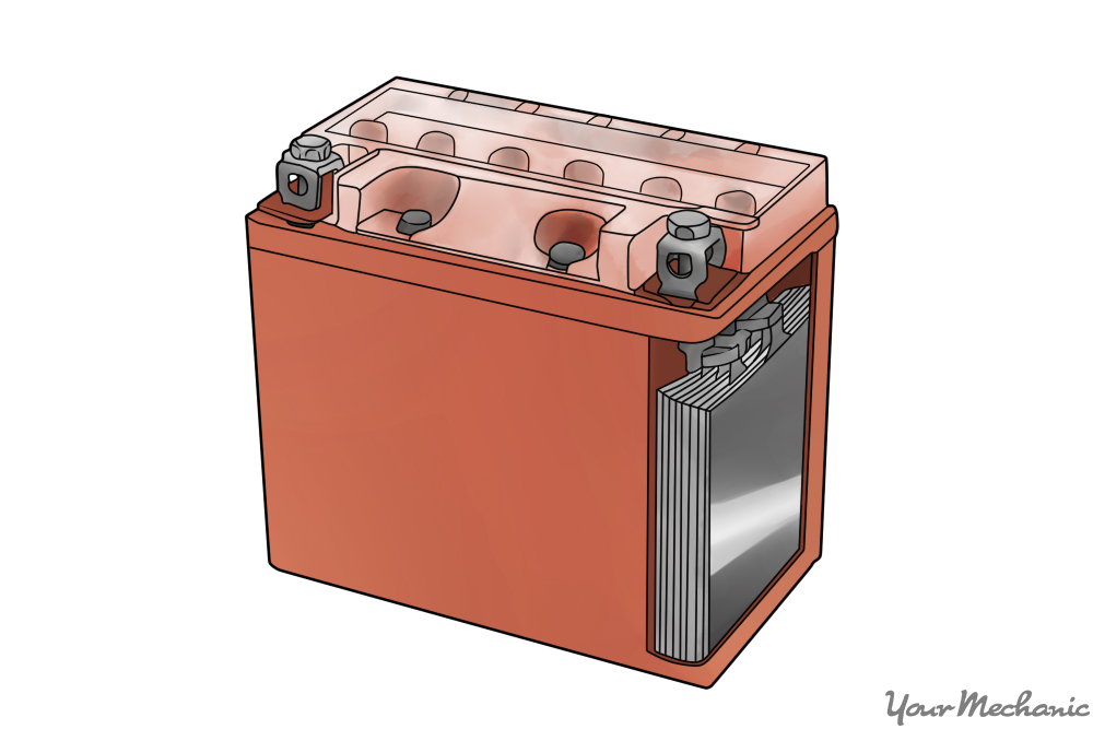 gel type battery shown