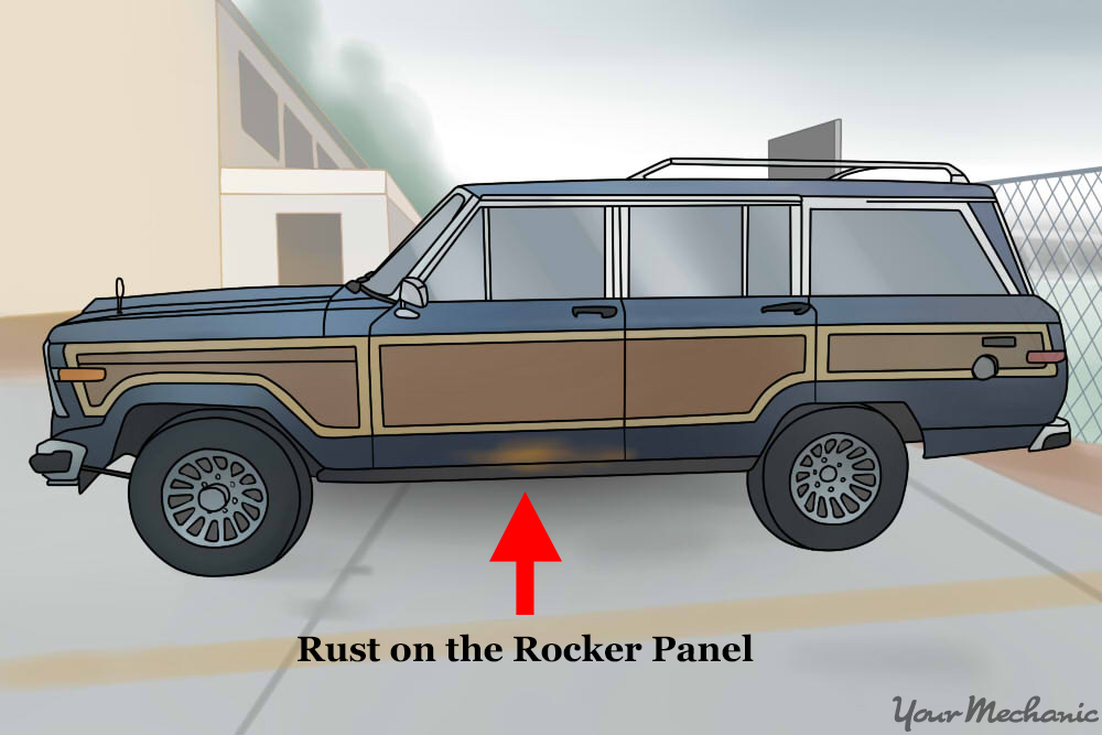 rust on rocker panels