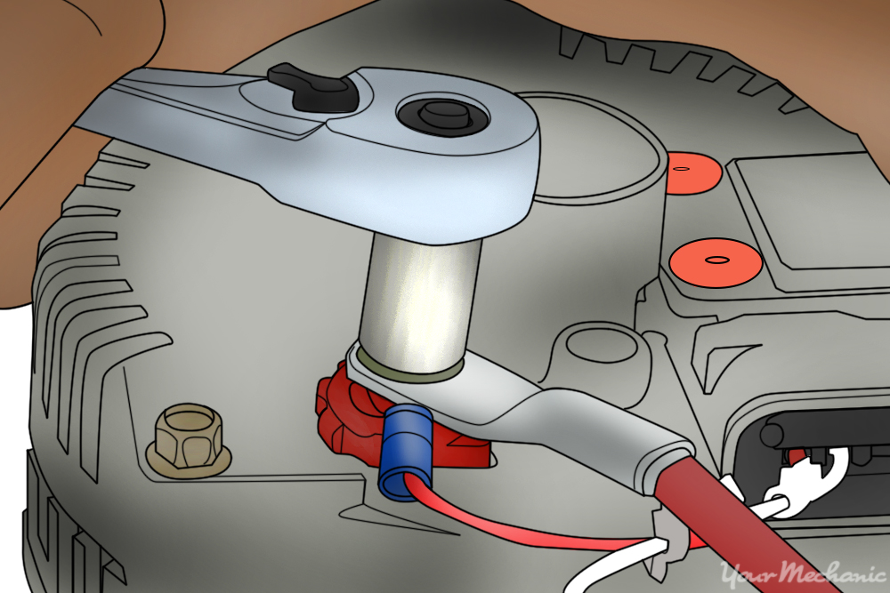connection being made between the starter and red wire