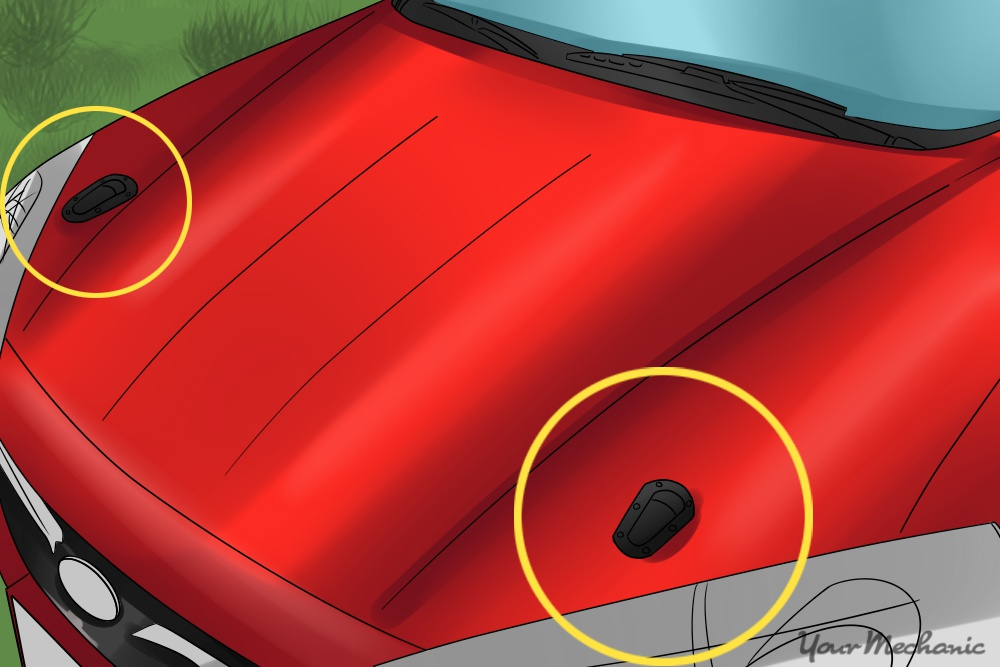 hood locks installing on car