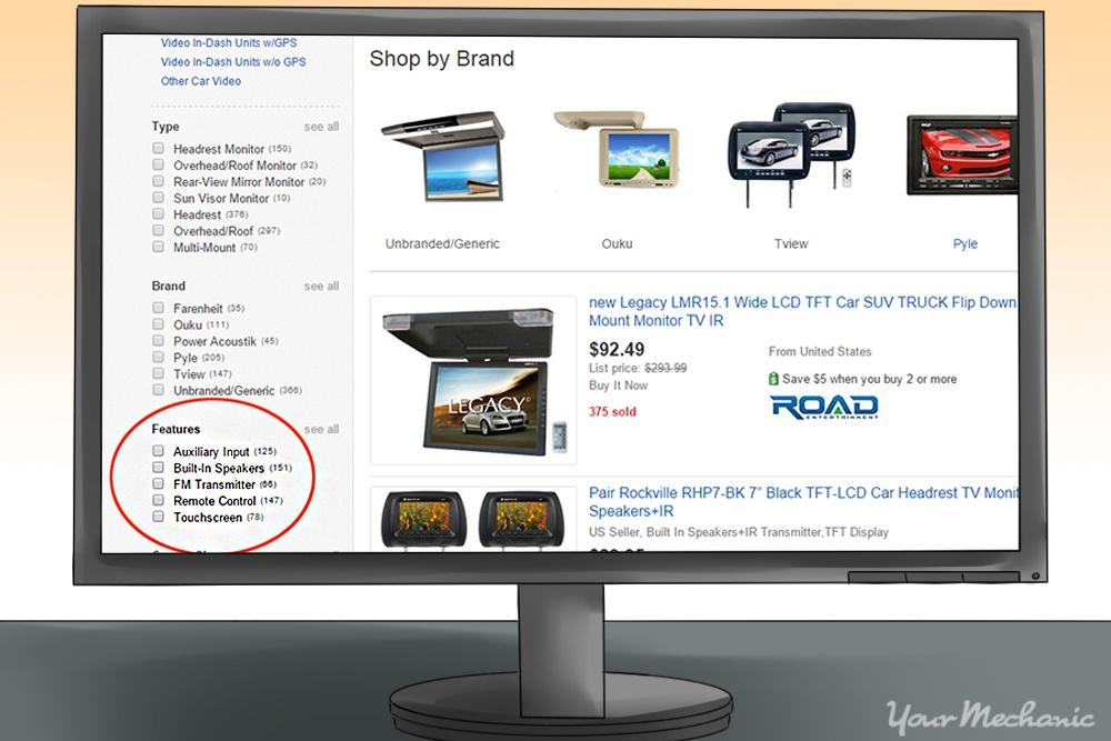 ebay screenshot highlighting features