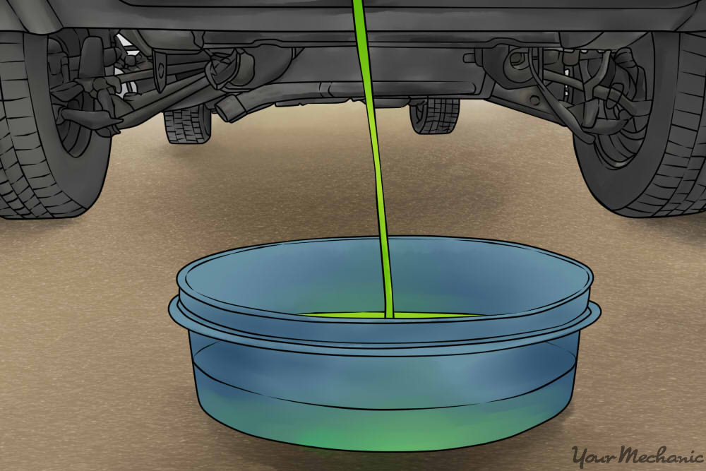 draining coolant