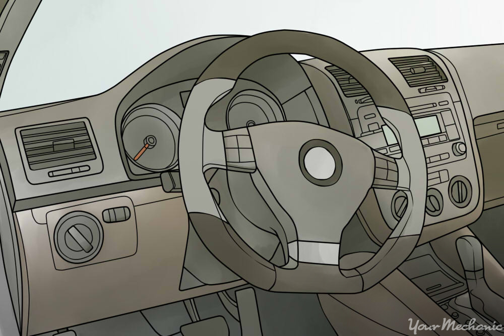 location of the steering column cover bolts