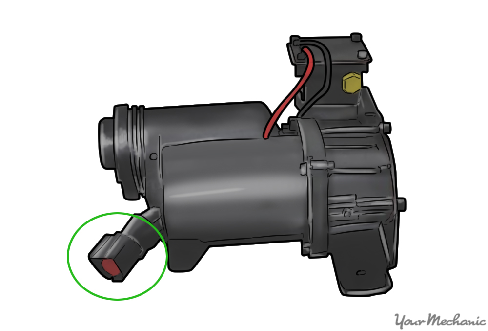 electrical connector circled in green
