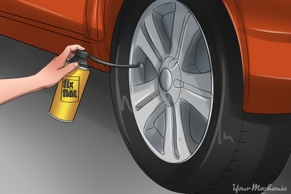 How To Use Fix A Flat Yourmechanic Advice