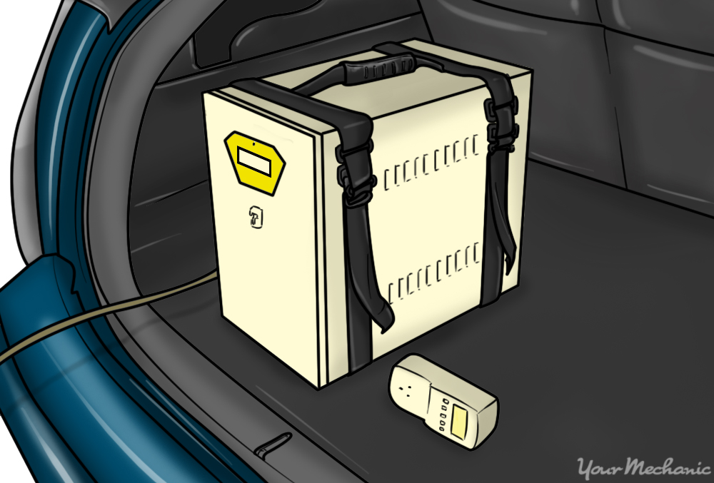 plug out kit inside of trunk