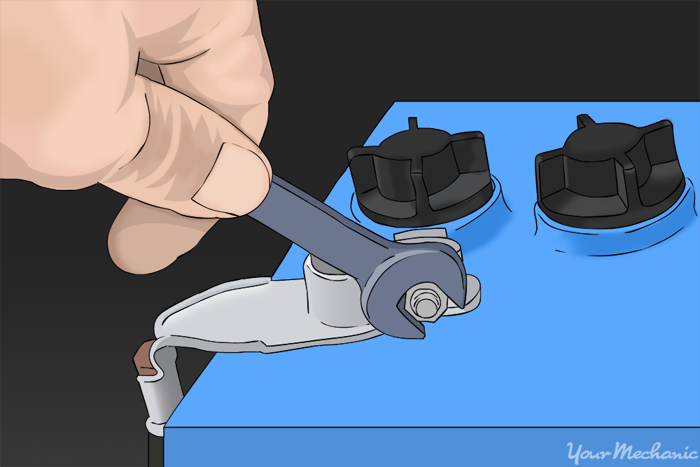 removing negative terminal of the battery