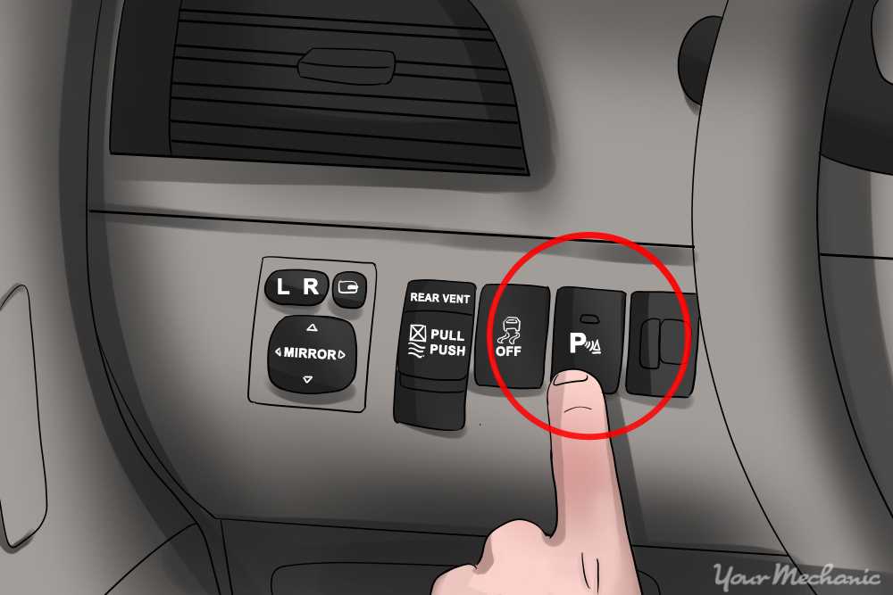 intelligent parking button button