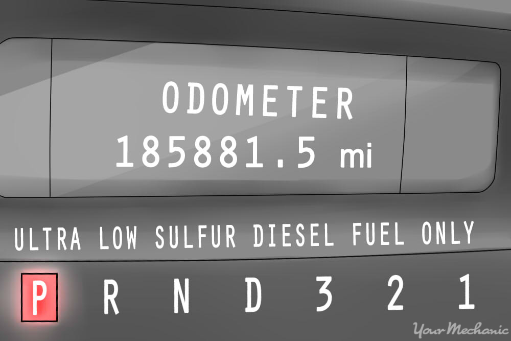 dashboard reading ultra low sulfur diesel fuel only