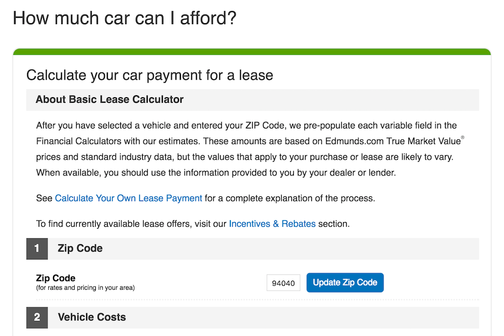 What Car Lease Payment Can I Afford