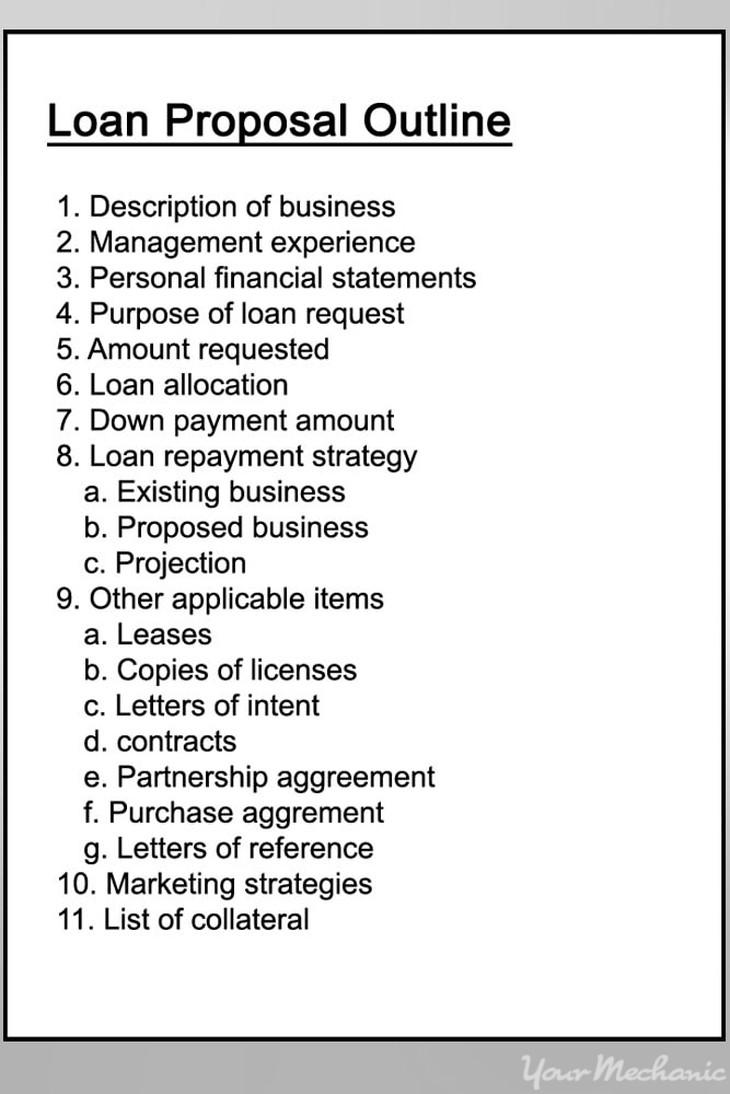 loan proposal draft